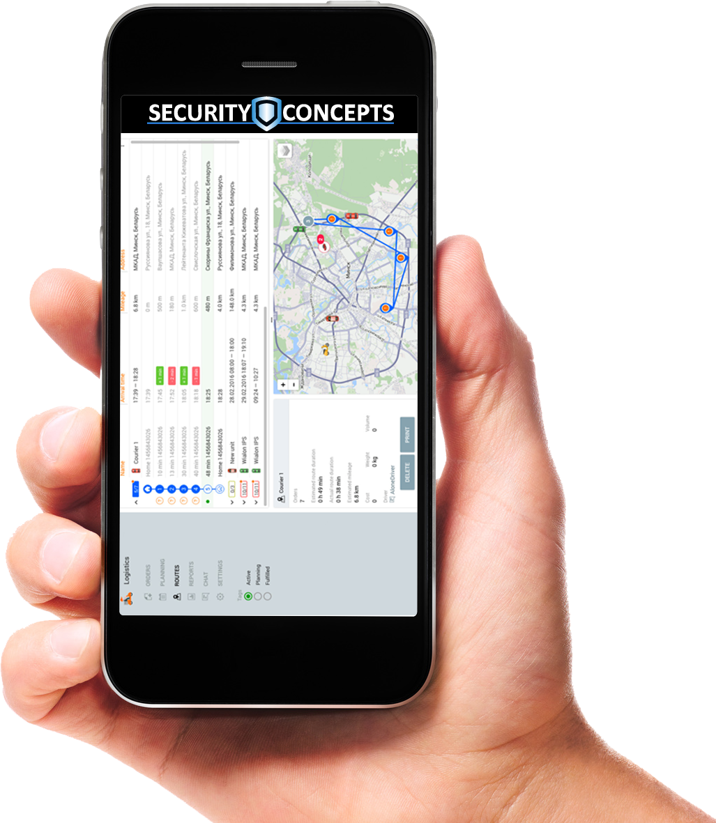 aplicación logistic security concepts